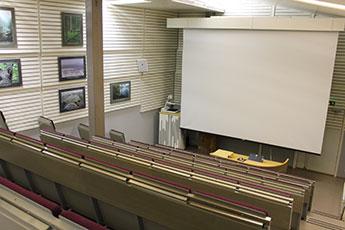 Seitseminen naturums auditorium. Bild: Forststyrelsen / Anniina Mäensivu