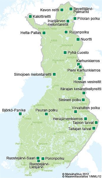 suomen vaellusreitit