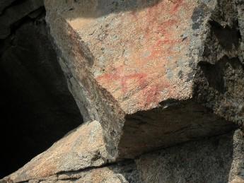 Havukkavuoren hirvi-kalliomaalaus. Kuva: Katri Heiskanen