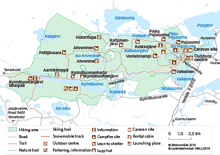 Map of Kylmäluoma Hiking Area