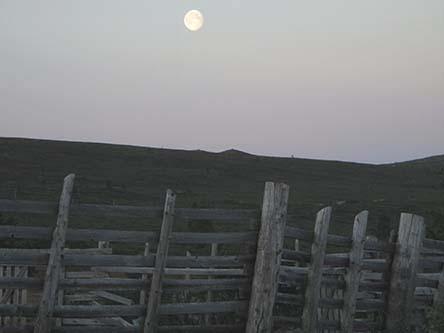 """""""Weather of two spirits"""". Full moon during midnight sun. Photo: Niina Pehkonen"""