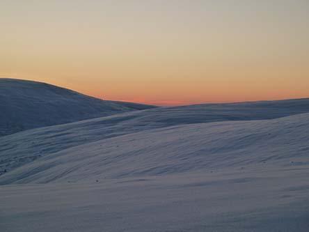 Polar night in the fell. Photo: Petteri Polojärvi