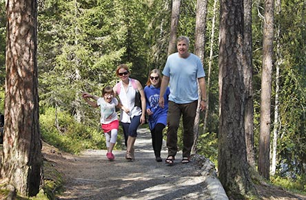Kiutaköngäs-stigen är en utmärkt dagstig för alla som vill bekanta sig med Oulanka. Bild: Susanna Kolehmainen/Forststyrelsen