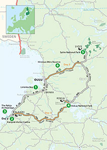 """From the Baltic Sea to Wild Wooded Hills"" Touring Route"