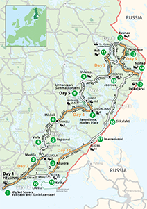 """Blue Finland"" Touring Route"