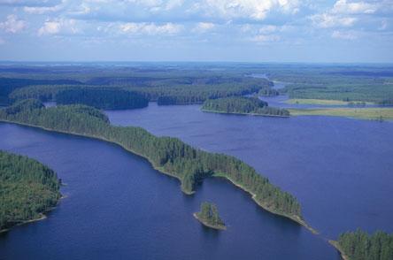 Petkeljärven harjumaisema. Kuva: Metsähallitus / Lentokuva Vallas