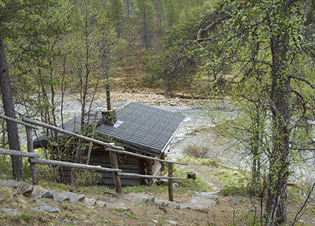 Anterinmukka, sauna. Photo: Allan Niva, Metsähallitus