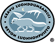 The emblem of Kevo Strict Nature Reserve - Arctic Fox