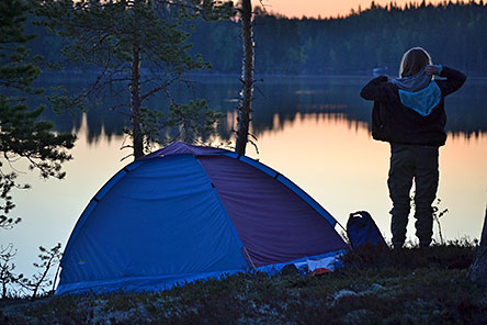 For temporarily camping, please use the environs of rest stops. Photo: Janita Juvakka