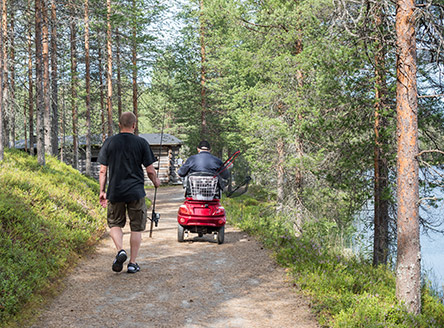 Trails and services for every visitors. Photo: Sini Salmirinne