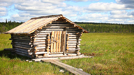 A renovated old barn on Kivalonaapa mire. Image: Juha Paso