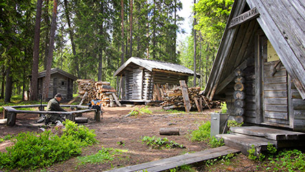 A break at Sortovaara lapp hut. Image: Juha Paso