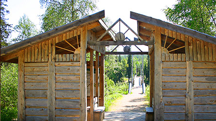 The starting gate to Vaattunkivaara Nature Trail in Vikaköngäs. Image: Juha Paso