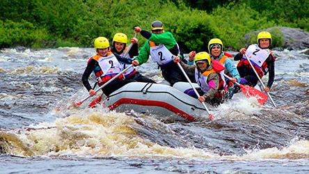 A rafting race in Vikaköngäs rapids. Image: Visit Rovaniemi