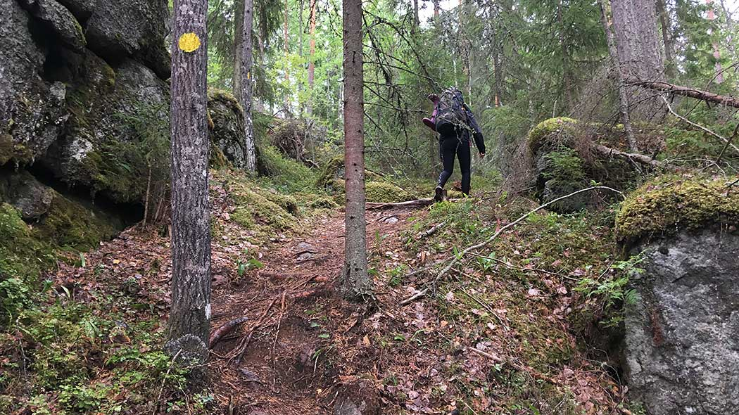 Trails in Southern Konnevesi are challenging. Photo: Maija Mikkola.