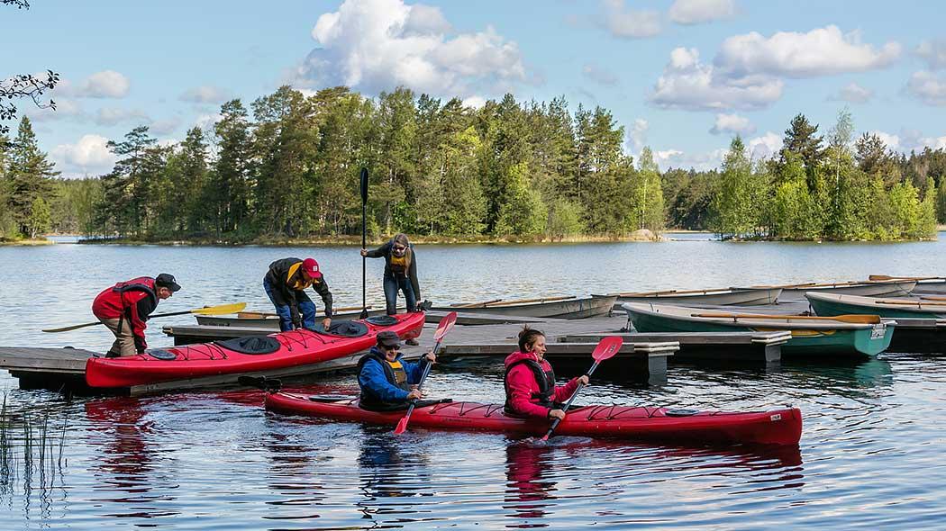 Paddlare i Tykö nationalpark. Bild: Jari Kostet.