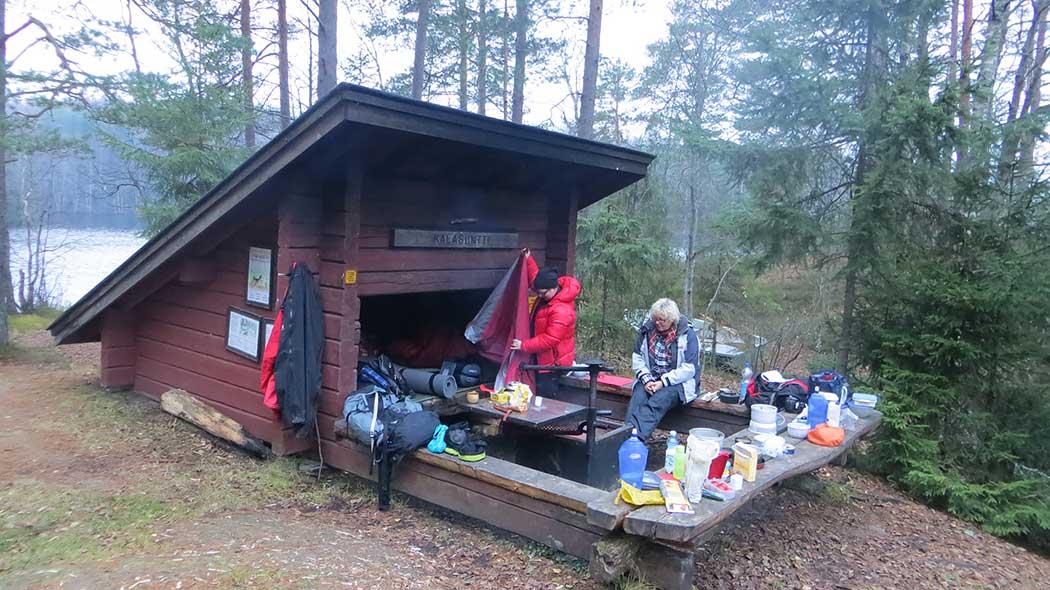 Kalasuntti lean-to shelter. Photo: Laura Lehtonen
