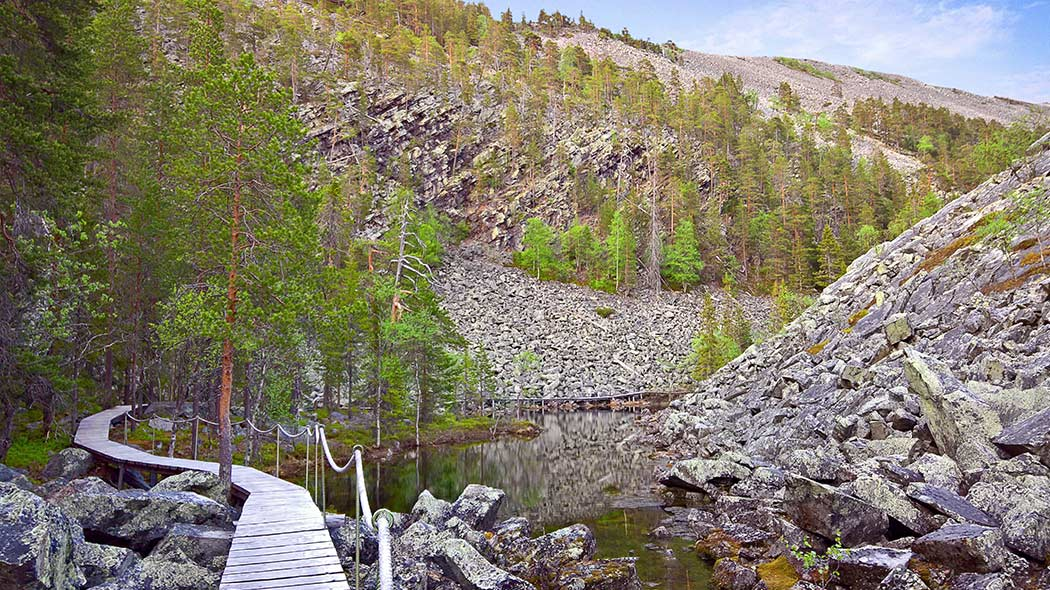Isokuru gorge is the deepest gorge in Finland, being 220 metres deep. Image: Anna Pakkanen