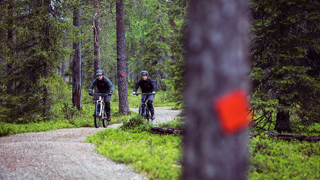 Parts of the Rykimäkero Trail are gravel-covered. Image: Visit Pyhä-Luosto.