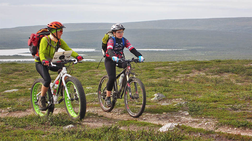 Pöyrisjärvi Wilderness Area is a wonderful destination for mountain bikers. Photo: Tiina Riikonen.