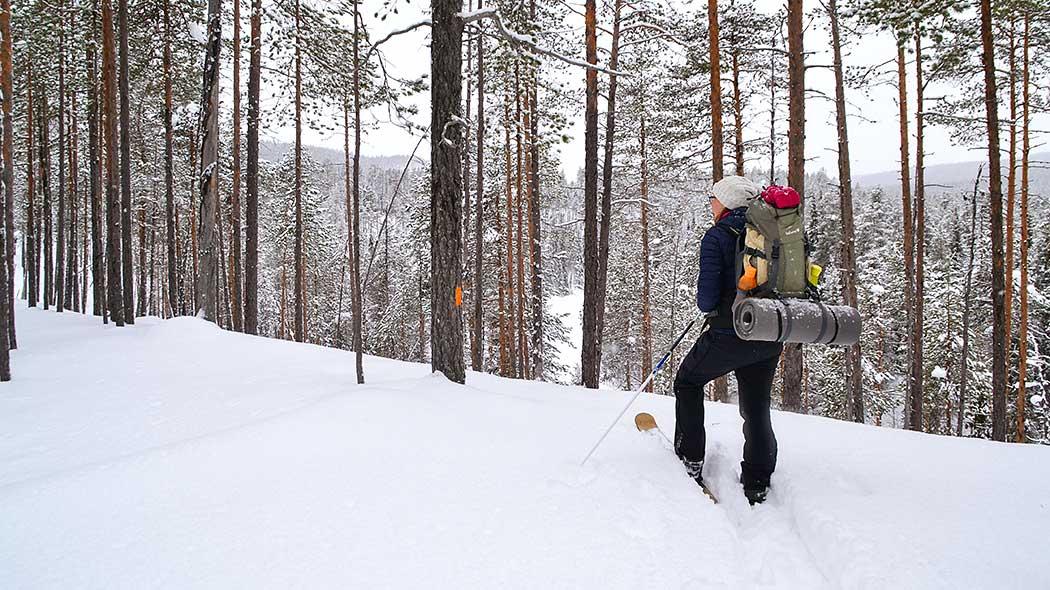 Talvivaelluksella Karhunkierroksella. Kuva  Satu Pietilä. b546700b14