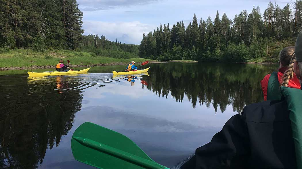 Consider joining a guided paddling trip if you are a beginner. Photo: Minna Koramo.