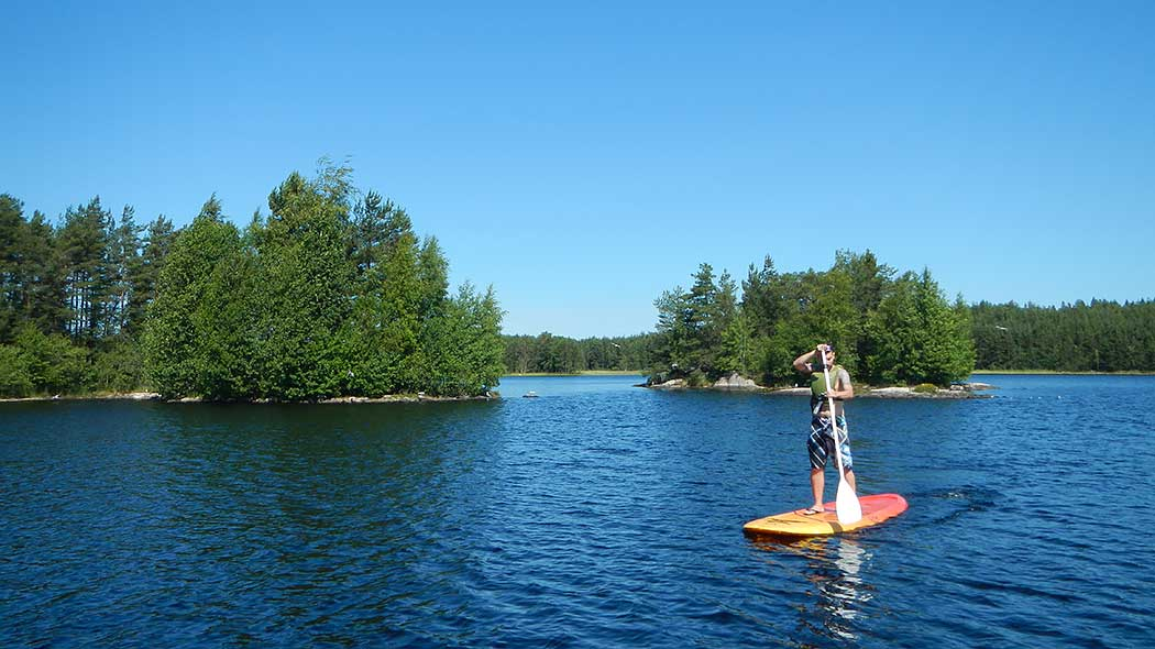 SUP (Stand Up Paddle boarding) is one of the easiest ways to get started on the water. Photo: Elina Kuusniemi.
