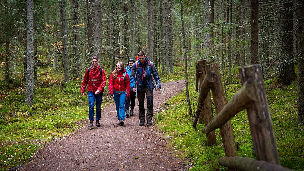 Hiking is safer and more fun in a group! Photo: Salla Penttilä
