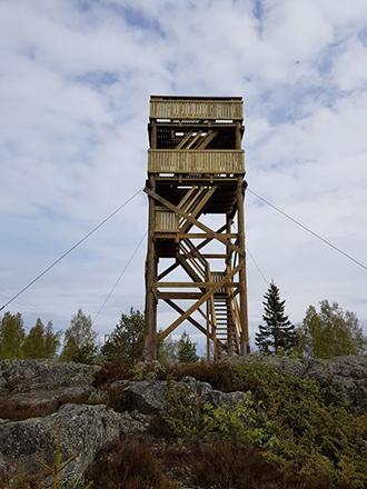 Observation tower in Klobbskat. Photo: Jyrki Näkki.