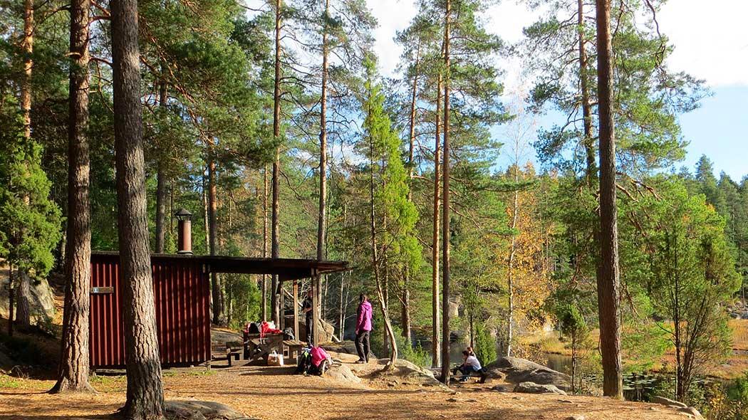 Eldplatsen vid Mustalampi. Bild: Laura Lehtonen