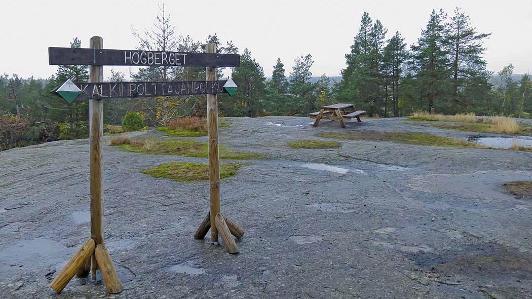 Utsikt från Högbergets rastplats. Bild: Jussi Helimäki.