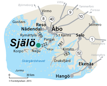 Karta över Själö