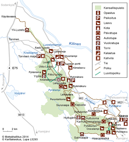 vaelluskartta