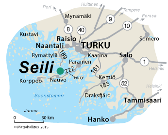 Map of the surroundings of Seili Island