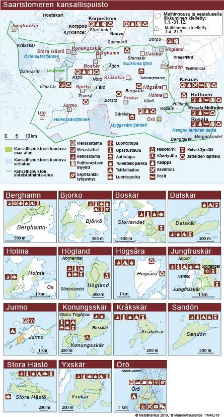 Saaristomeren Kulkuyhteydet Ja Kartat Luontoon Fi